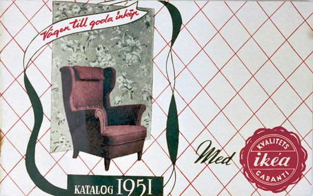 ikea mk wing chair original catalogue