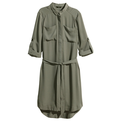 h m shirt dress military style fashion redonline