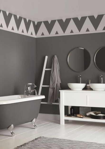 Crown Celestite Grey Paint On Wall