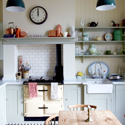 Contemporary country kitchens interiors redonline for Aga kitchen design ideas