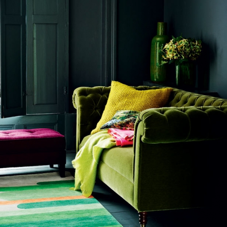 Bold Colour Living Rooms Red Online