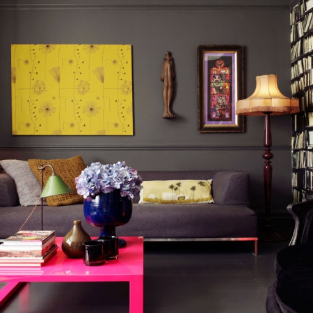 Living Room: Bold Colours: Greys And Neons Part 87
