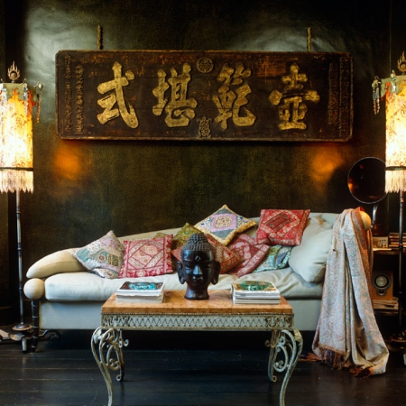 Bohemian living room ideas red online - Decor oriental design interieur luxe antonovich ...