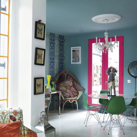 bold colour dining room - red online