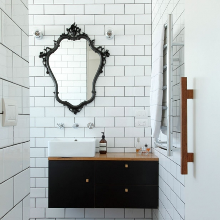 Best Modern Retro Bathrooms Interiors Redonline Red Online With Vintage Bathroom Mirrors