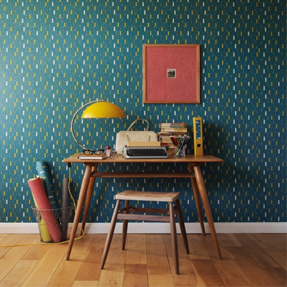 Bold Colour Home Office Wallpaper Ideas