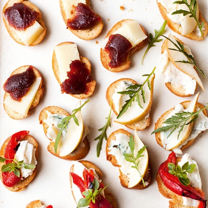 Best canape recipes drinks party recipes red online for Simple canape appetizer