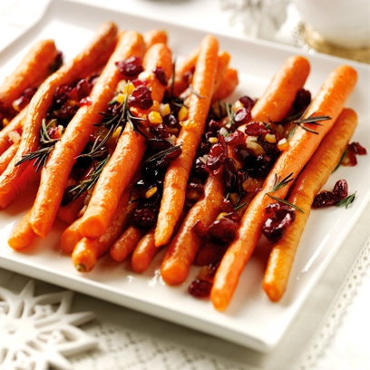 Best christmas side dishes christmas recipes red online try this roast sweet carrots with cranberries candied orange and rosemary recipe forumfinder Gallery