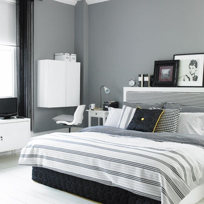 Monochrome ideas for the home colour scheme for rooms for Interior design bedroom grey