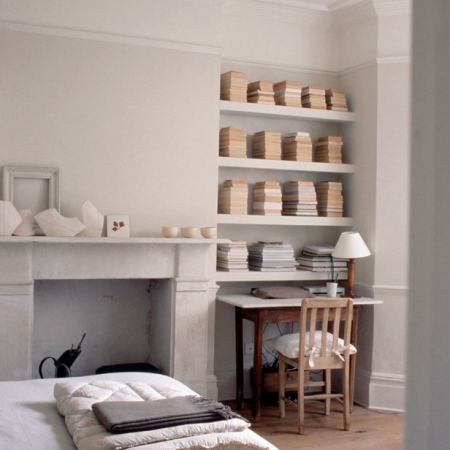 All White Studies Decorating Ideas Interiors Red Online