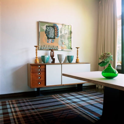 Tartan Fabric Using Colour And Pattern Decorating Ideas