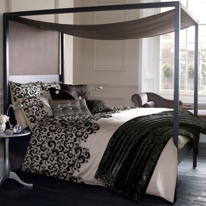 Monochrome bedrooms decorating ideas interiors red online for Monochrome interior design ideas