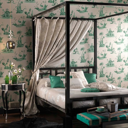 Bedrooms with four poster beds decorating ideas for Four poster bedroom designs