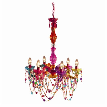Multi coloured chandelier tesco