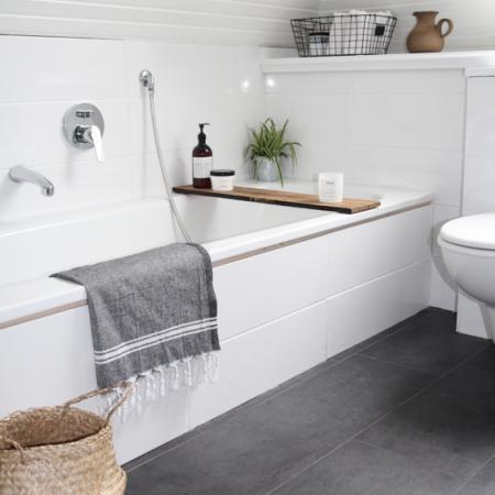 bathroom flooring ideas: decorating ideas: interiors - red