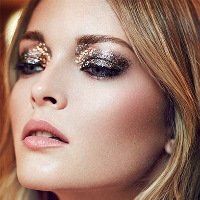 glitter makeup  christmas party looks  red online