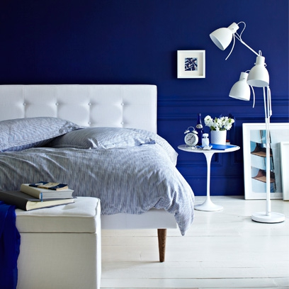 Blue rooms colour scheme ideas red online for Interior design bedroom blue white