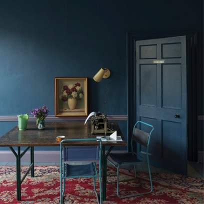 Blue rooms colour scheme ideas red online - Farrow and ball decoration ...