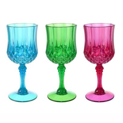 Coloured Acrylic Wine Glasses