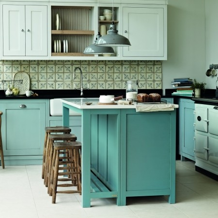 Kitchen colour schemes colour schemes red online for Coloured kitchen units uk