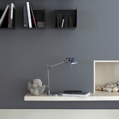 Grey Office Room