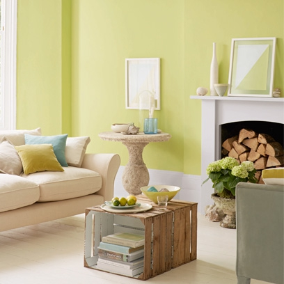 Good Bold Colour Living Room, Colour Blocking