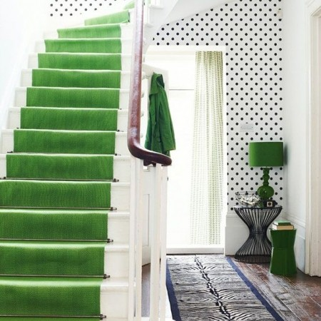 Hallway ideas to steal floor and wallpaper ideas red for Hallway wallpaper ideas