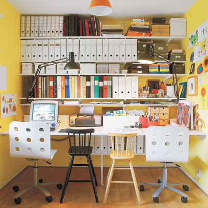Small space ideas red online - Home office storage ideas for small spaces concept ...
