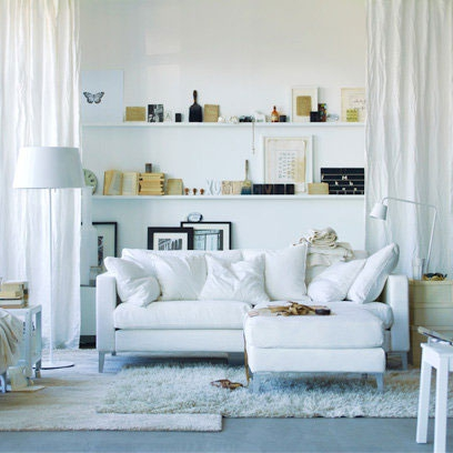 white sofas and shelving small living room ideas decorating ideas