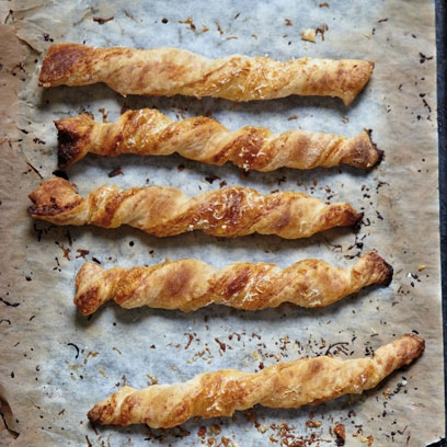 Gruyere and paprika pastry straws red online ingredients forumfinder Image collections