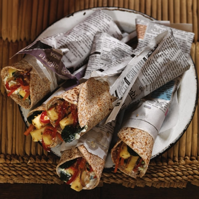 Gordon ramsays spicy vegetable and paneer wraps lunch recipes ingredients forumfinder Images