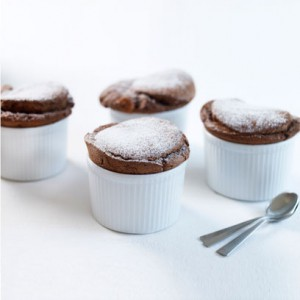 Mary Berry's hot chocolate soufflés