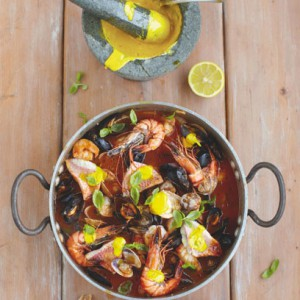 Jamie Oliver's Flashy Fish Stew with Garlic Bread