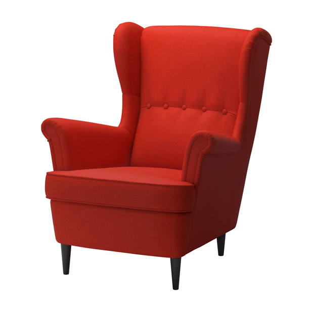 ikea reissues their iconic 1951 wing chair red online. Black Bedroom Furniture Sets. Home Design Ideas