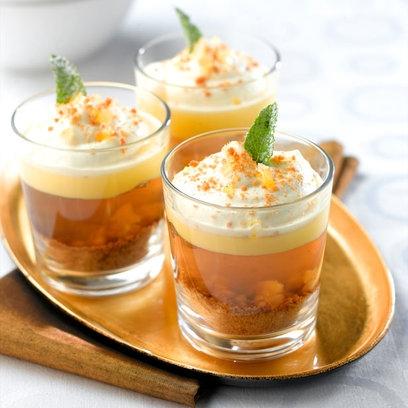 Individual vegan ginger & bourbon trifles