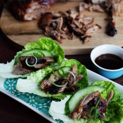 Shredded Duck And Lettuce Wraps Meat Recipes Red Online