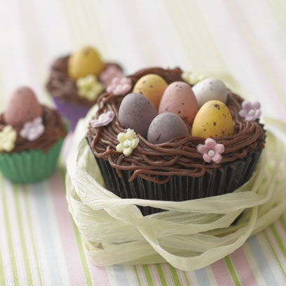 Chocolate Easter Nest Cupcakes Cupcakes Recipes Red Online