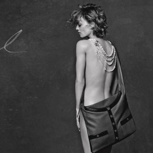 Vanessa Paradis wears nothing but a handbag for Chanel