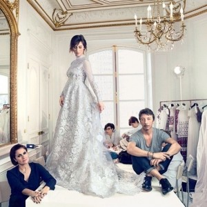 First look at Sophie Hunter's dreamy Valentino wedding dress