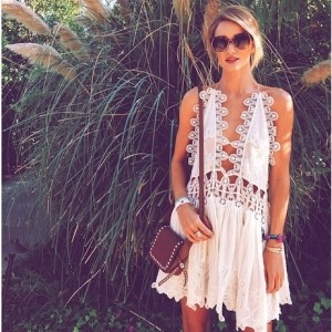 A guide to wearing a white dress from Coachella