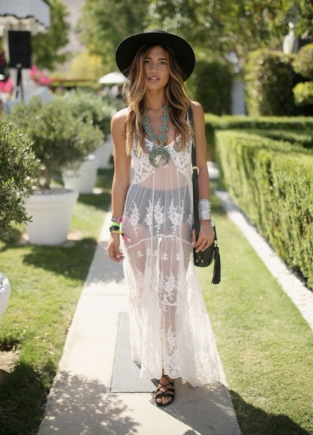 Boho clothing at Coachella festival