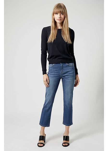 Shop the perfect Topshop high waisted cropped kick flare jean ...