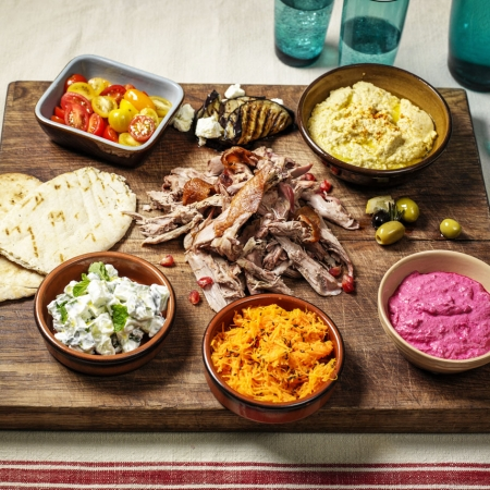 Duck Middle Eastern Mezze Platter Recipe | Dinner Party Recipes - Red ...
