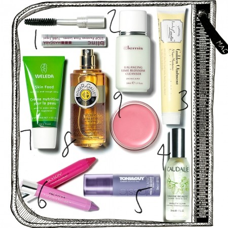 How to take make-up in hand luggage | Travel size beauty products ...