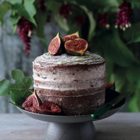 Chocolate fig naked cake Cake Recipe Baking Ideas Red Online