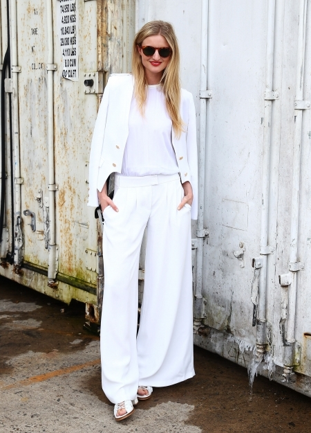Why Not Go For A Trouser Suit Worn With Clic Crew Neck T Shirt This Look Would Be Perfect Modern City Wedding