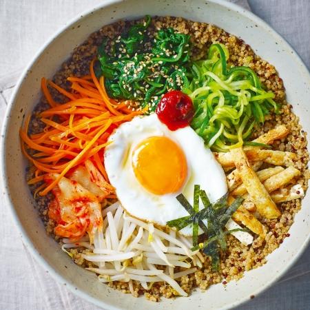 Vegetarian Bibimbap Vegetarian Korean bibi...