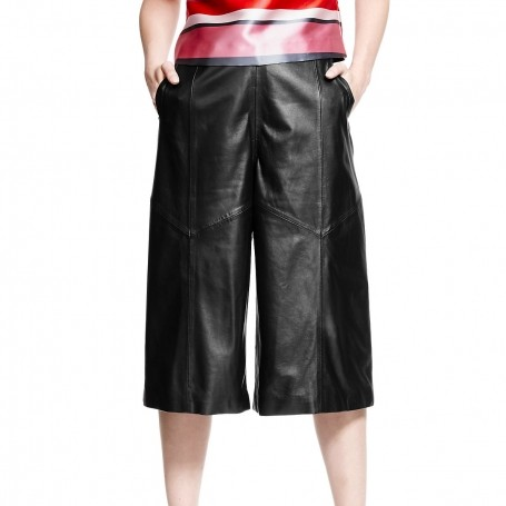 I need a hero: Feeling brave leather culottes