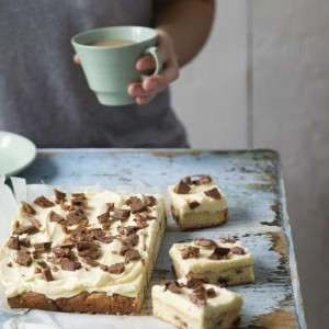 Daim and White Chocolate Traybake