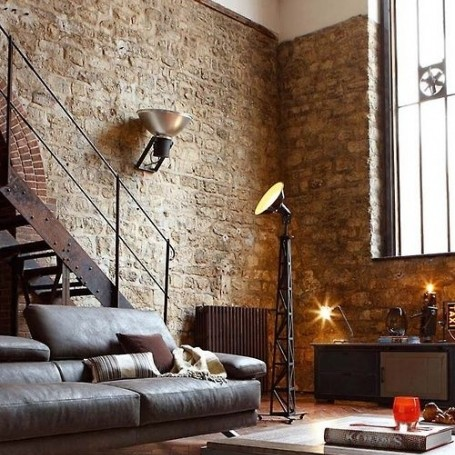 Living room red online for Brick wallpaper living room ideas